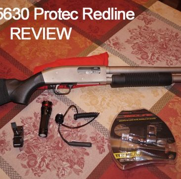 Nebo Redline Flashlight with Universal shotgun mount