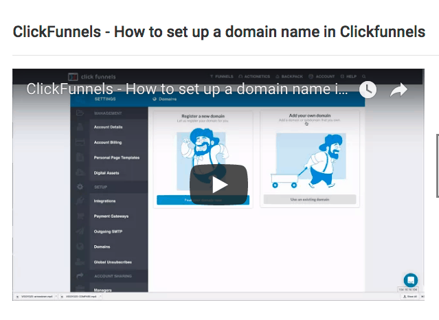 How to add a domain name in ClickFunnels | 2017